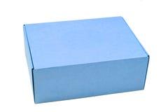Boîte en carton bleue Photos stock