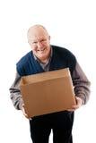 Boîte en carton de fixation d'homme Photos libres de droits