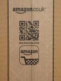 Boîte en carton de logo d'Amazone Image stock