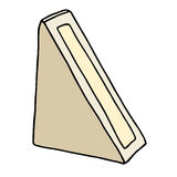 Boîte en carton de triangle de sandwich avec la fenêtre Image stock