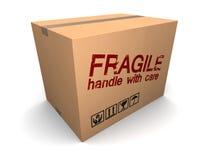 Boîte en carton fragile Image stock