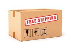 Boîte en carton libre d'expédition Images libres de droits