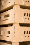 Boîte en carton ondulé Photos stock