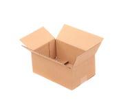 Boîte en carton ondulé Photographie stock