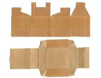 Boîte en carton ondulé Images stock