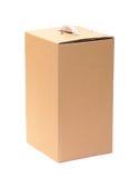 Boîte en carton ondulé avec le traitement Photos libres de droits