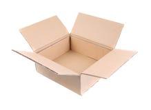 Boîte en carton ondulé Open Images libres de droits