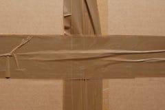 Boîte en carton scellée. Photos libres de droits