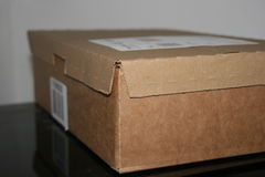 Boîte en carton simple Photos stock