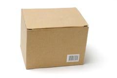 Boîte en carton sur le blanc photographie stock