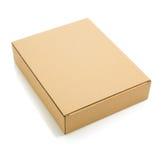 Boîte en carton sur le blanc photos stock