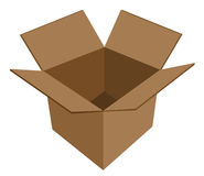 Boîte en carton vide Images libres de droits