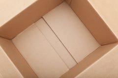 Boîte en carton vide Image libre de droits