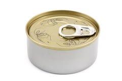 Boîte en fer blanc Images libres de droits