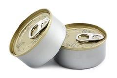 Boîte en fer blanc Photo libre de droits