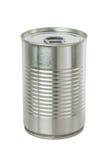 Boîte en fer blanc en aluminium. photographie stock libre de droits