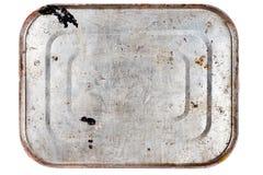 Boîte en fer blanc en métal rouillé photos stock