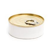 Boîte en fer blanc fermée Photo stock