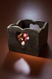 Boîte en forme de coeur Photos stock