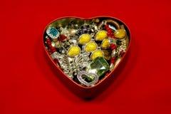 Boîte en forme de coeur Images stock