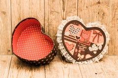 Boîte en forme de coeur Photo libre de droits