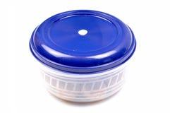 Boîte en plastique à nourriture photographie stock