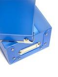 Boîte en plastique bleue Image libre de droits