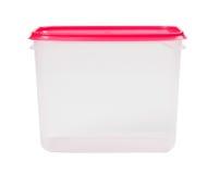 Boîte en plastique d'isolement sur un fond blanc photos libres de droits