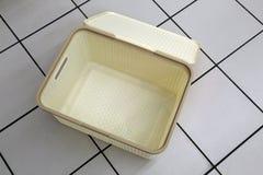 Boîte en plastique pour le stockage de toile Image stock