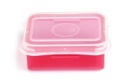 Boîte en plastique rouge Images stock