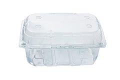 Boîte en plastique vide Images stock