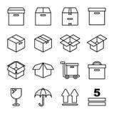 Boîte et empaquetage connexes Photo stock