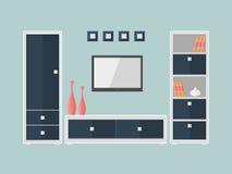 Boîte et TV 2 de meubles Photographie stock libre de droits