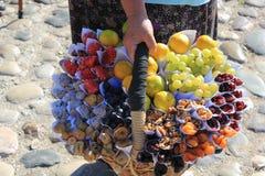 Boîte fabriquée à la main de préparation de fruit Photo libre de droits