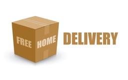 Boîte gratuite de panneau de carte de livraison à domicile Image libre de droits