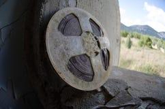 Boîte métallique de film Images libres de droits