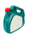 Boîte métallique en plastique pour l'huile de moteur Photo stock