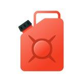 Boîte métallique, entonnoir, icône de carburant Boîte métallique en métal d'essence Photos stock