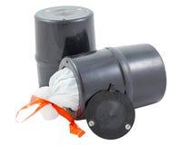 Boîte métallique résistante d'ours. image stock