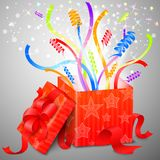 Boîte magique de surprise Image stock