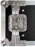 Boîte noire argentée//caisse pour l'équipement musical Image libre de droits