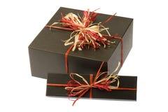 Boîte noire avec la proue normale colorée. D'isolement Photos stock