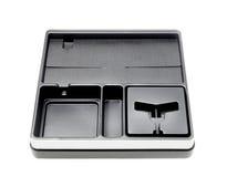 Boîte noire d'isolement sur le fond blanc Photos stock