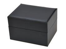 Boîte noire de cadeau Image stock