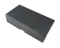 Boîte noire sur le fond blanc Photos stock