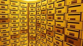 Boîte ou boîte aux lettres de courrier de casier image libre de droits