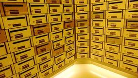 Boîte ou boîte aux lettres de courrier de casier Photos libres de droits