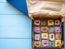 Boîte ouverte de plaisir turc de candys délicieux Photographie stock