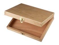 Boîte ouverte en bois Images libres de droits