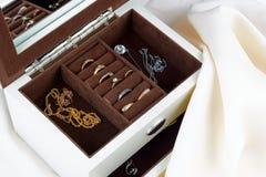 Boîte pour des bijoux Photos libres de droits
